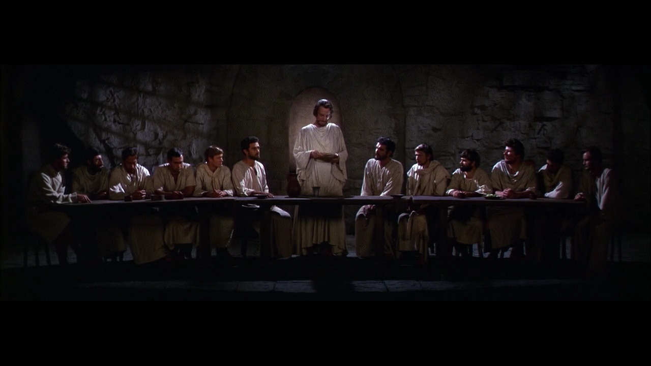 Leikarinn Max von Sydow í hlutverki Jesú í The Greatest Story Ever Told